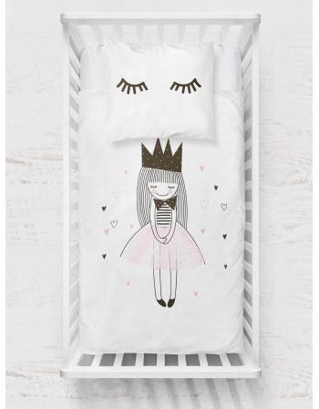 Little princess - blanket panel , Cotton Panel , Baby Blanket Panel