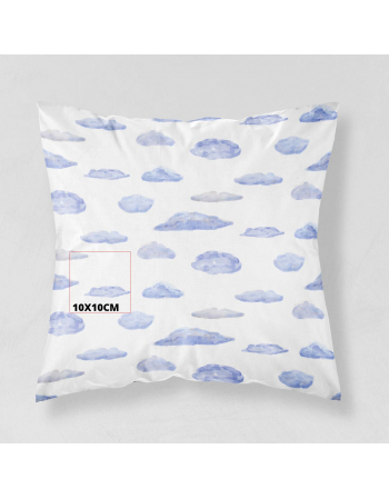 Watercolor Clouds - fabric panels for cushion , fabric panel for quilt