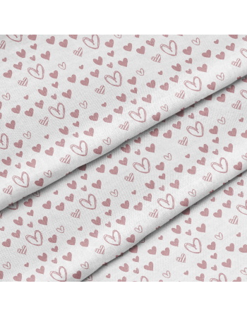 Little hearts - fabric by meter