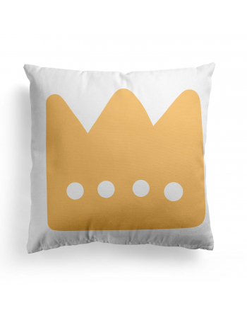 Crown Bear pillow panel , Cotton Panel , Baby Pillow Panel