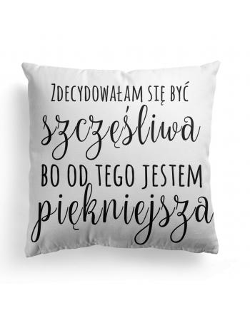 Jestem szczęśliwa - Cushion Panel , Cotton Panel
