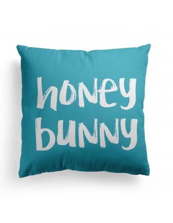 Honey Bunny Bear pillow panel , Cotton Panel , Baby Pillow Panel