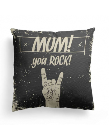 Mum you rock - cushion panel, mothers day