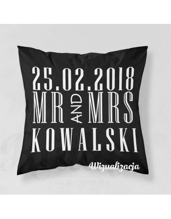 PANEL ŚLUBNY- MR&MS (CZARNY)