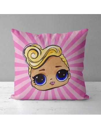 LOL DOLL - fabric panels for pillow , fabric panel for quilt