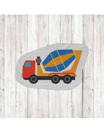 Construction - vehicle fabric panels for mascot , fabric panel for quilt