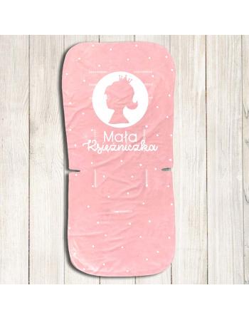 Panel do wózka-  Mała księżniczka - powder pink