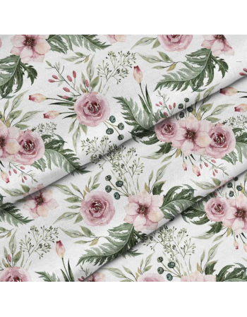 Garden flowers - classic - fabric by meter