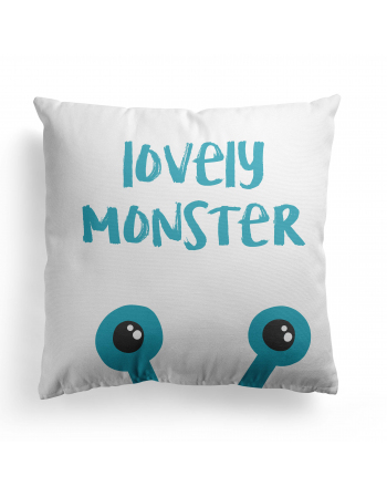 Lovely monster - cushion panel , Cotton Panel , Baby Blanket Panel