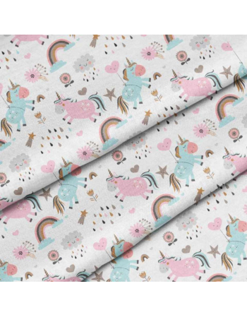 Pastel unicorns- fabric by meter