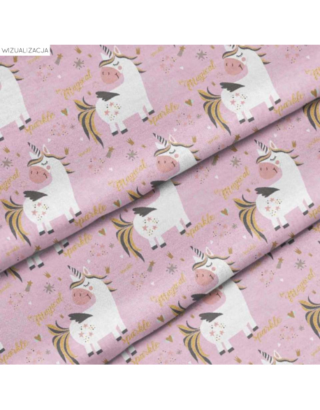 Pastel unicorns - fabric by the meter