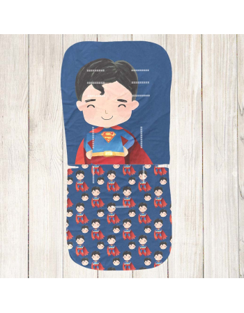 Superman Stroller insert panel - universal size , Cotton Panel