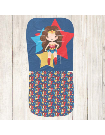 Wonder woman Stroller insert panel - universal size , Cotton Panel