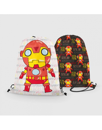 Iron Man -  drawstring bag panel