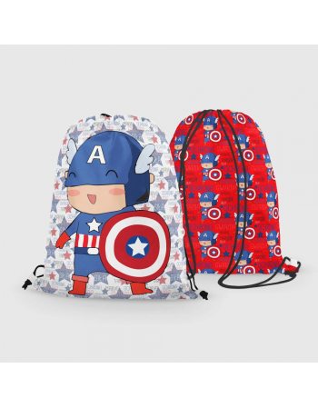 Captain America - drawstring bag panel