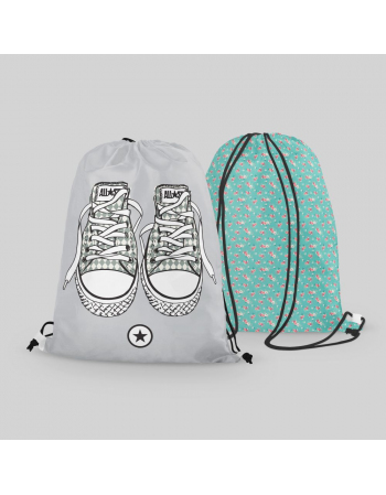 Grey trainers - drawstring bag panel