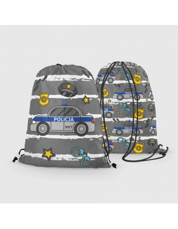 Police - drawstring bag panel