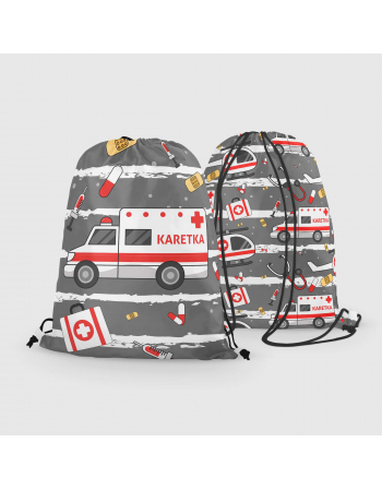 Ambulance - drawstring bag panel