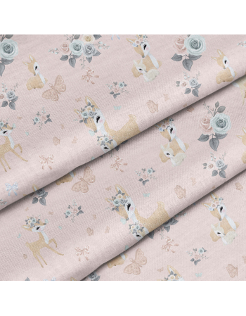 Pastel Deers- fabric by meter