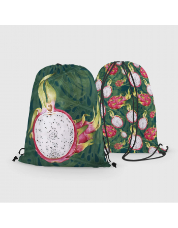 Dragon Fruit - drawstring bag panel