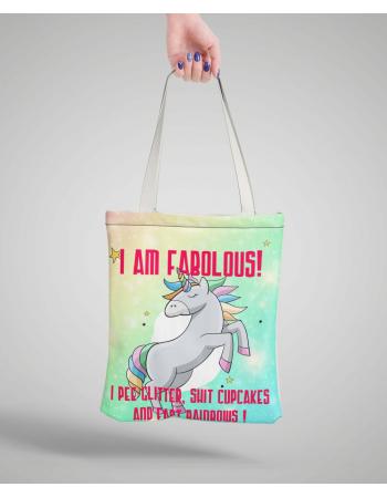 I am fabolous - bag panel