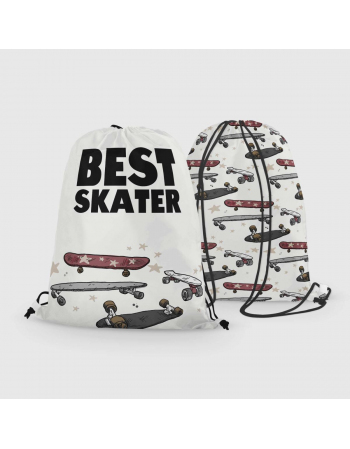 Best Skater - drawstring bag panel