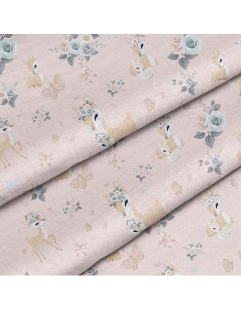 Pastel Deers- fabric by meter