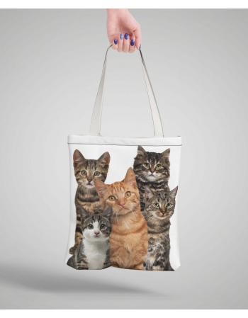 Cats - tote bag panel