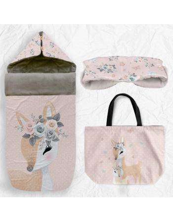 Kolekcja Jelonek - panel na śpiworek różowy