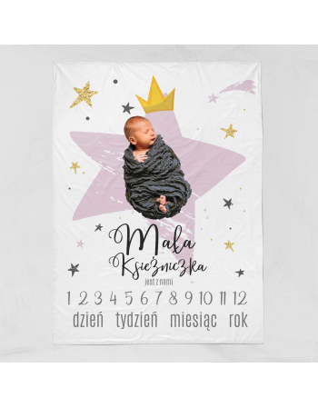 Star -milestone blanket panel  , Cotton Panel