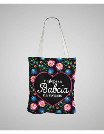 Folk - Najlepsza Babcia - panel na torbę