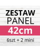PAKIET paneli 4 szt 38.5x38.5 cm