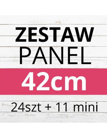 PAKIET paneli 24szt 42x42cm + 12 mini paneli