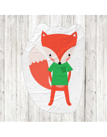 Fox- fabric panels for mascot , fabric panel for quilt