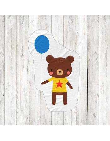 Bear - fabric panels for mascot , fabric panel for quilt