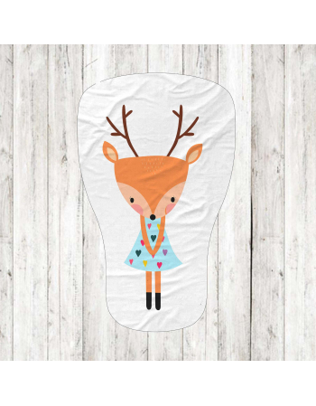 Deer - fabric panels for mascot , fabric panel for quilt