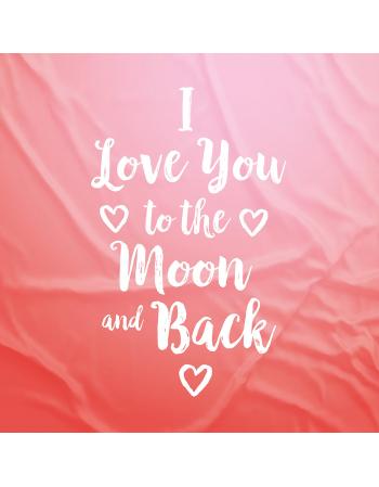 I love you - panel na poduszkę Walentynki