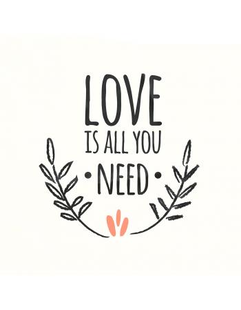 Love is all you need - panel na poduszkę Walentynki