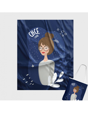 GIRL POWER - Nie idealna - tote bag panel