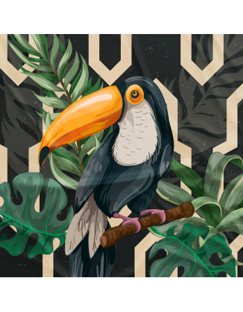 Toucan  - fabric panels for cushion outdoor | fabric panel for quilt
