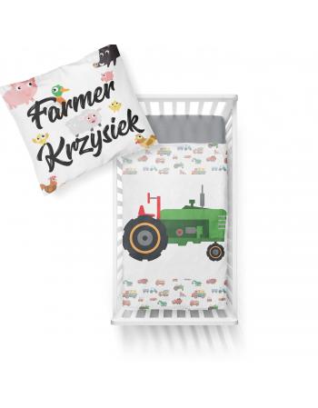 Panel kocykowy -Kolekcja - Koparkowe pościele - traktor