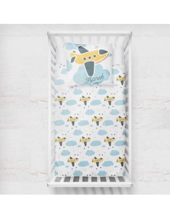Planes - blanket panel , Cotton Panel , Baby Blanket Panel