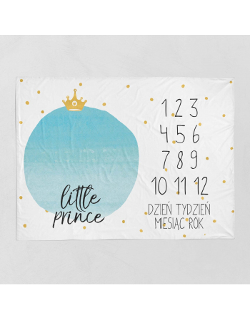 Little prince-milestone blanket panel , Cotton Panel