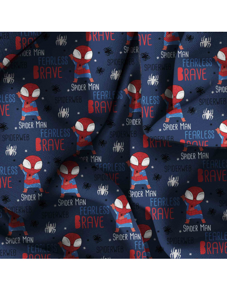 Spiderman english version  - fabric by meter