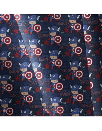 Kolekcja Kapitan Ameryka- tkanina  na metry, SOFTSHELL, BAWELNA, OXFORD