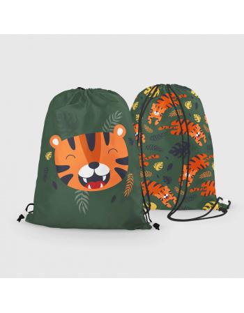 Easy Tiger - drawstring bag panel