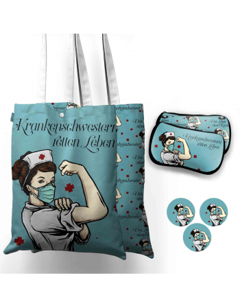 Krankenschwester - tote bag panel