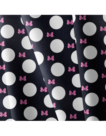 Bow and dots - fabric by meter