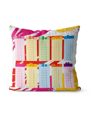 Multiplication Table - fabric panels for cushion | fabric panel for quilt