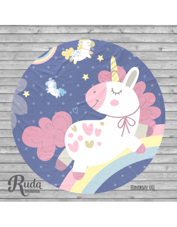 Unicorn - Baby mat panel , Cotton Panel